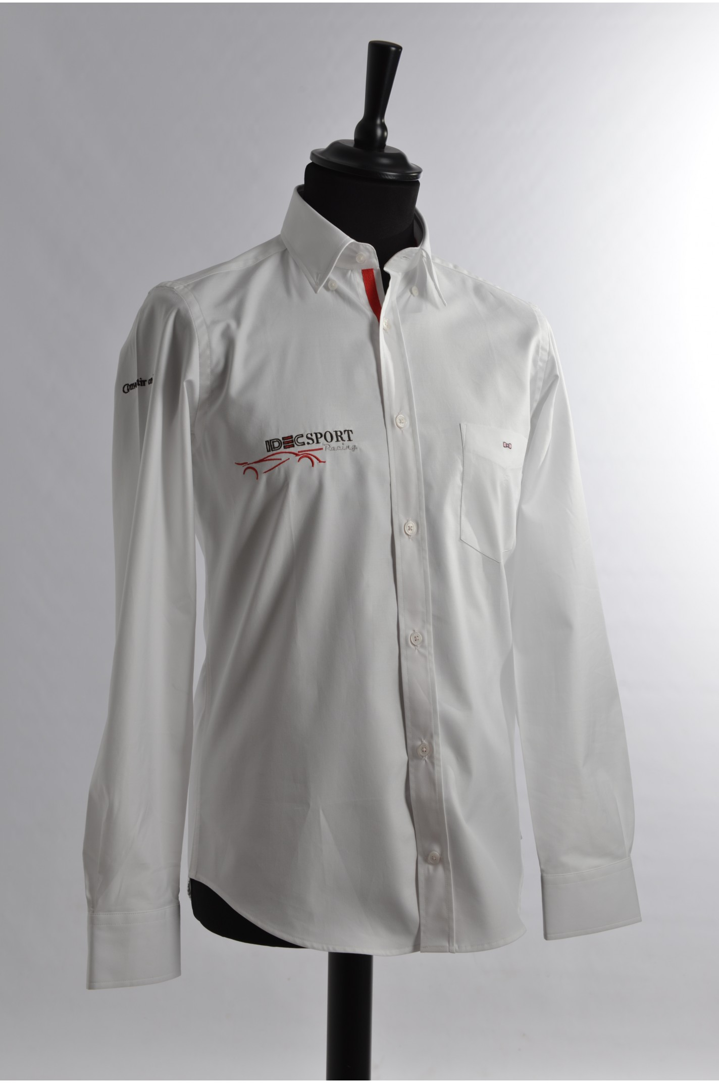4fc391e0c Plain white cotton shirt - IDEC Sport